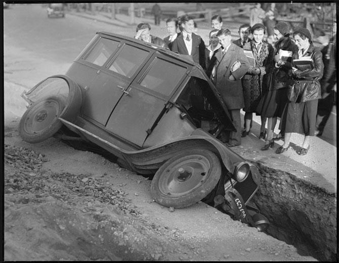 Автомобильные аварии в 30-е годы в Бостоне