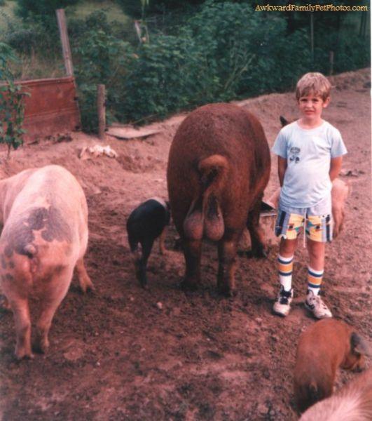 Прикольные семейные фотографии с животными