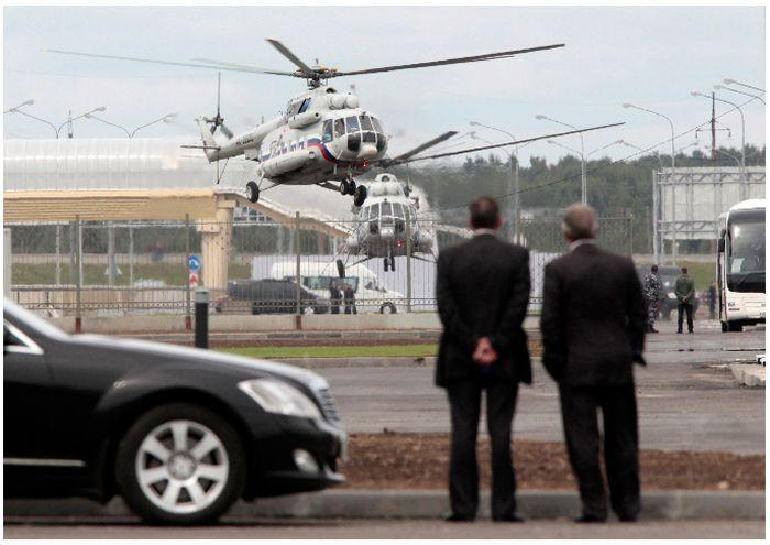 Интерьер вертолета президента РФ