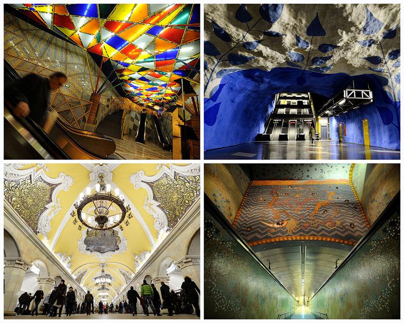 Самые впечатляющие станции метро в Европе