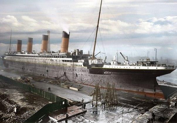 Редкие цветные фотографии Титаника, 1912 год