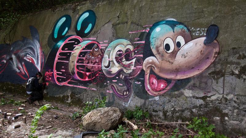 Необычный стрит-арт от Nychos