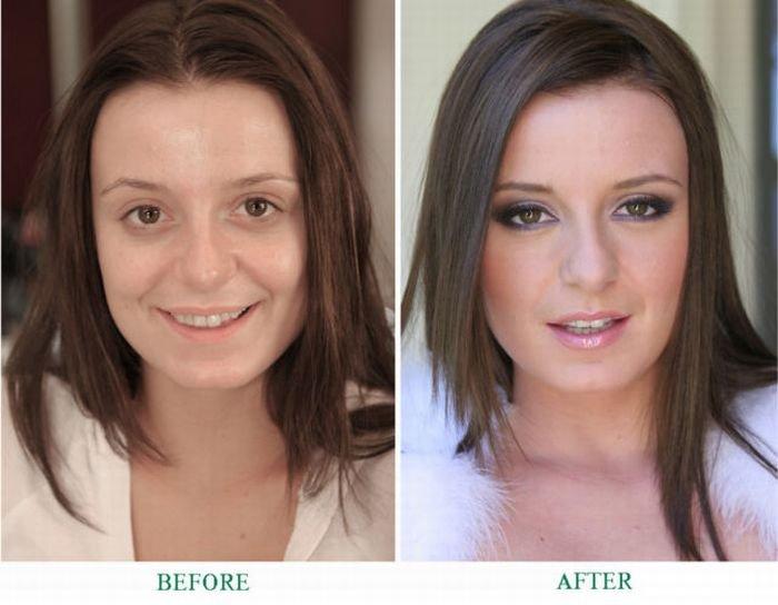 Женщины с косметикой и без